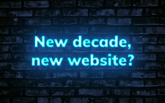 New decade, new website?