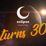 eclipse marketing logo with 30th birthday message