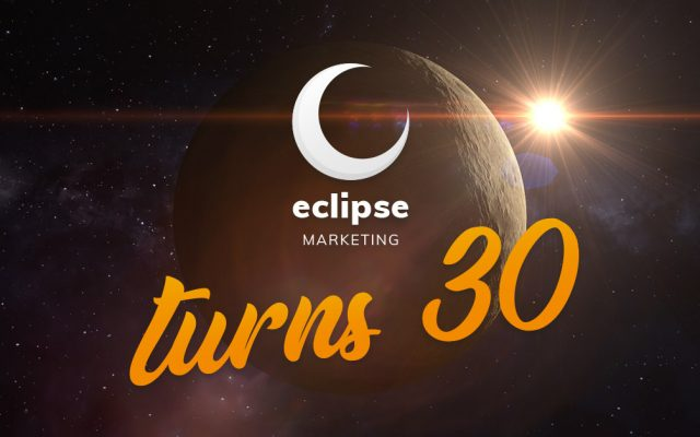 eclipse marketing logo with 30th birthday message