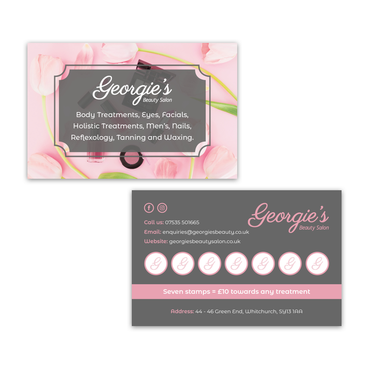 Georgies loyalty cards